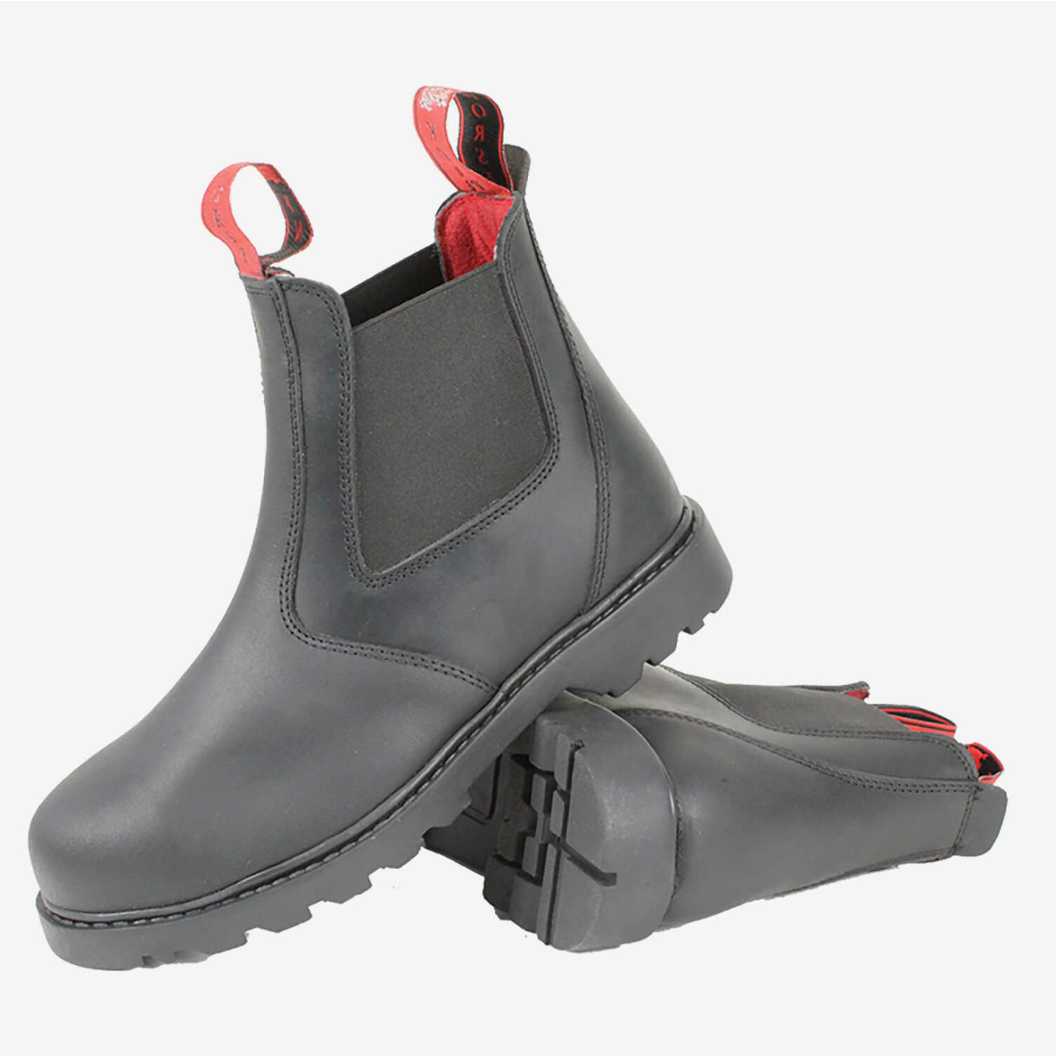 c6d7022a560 Mink Horse Stald / Arbejdsstøvle af kraftigt vandtæt læder/ stål næse |  Horze