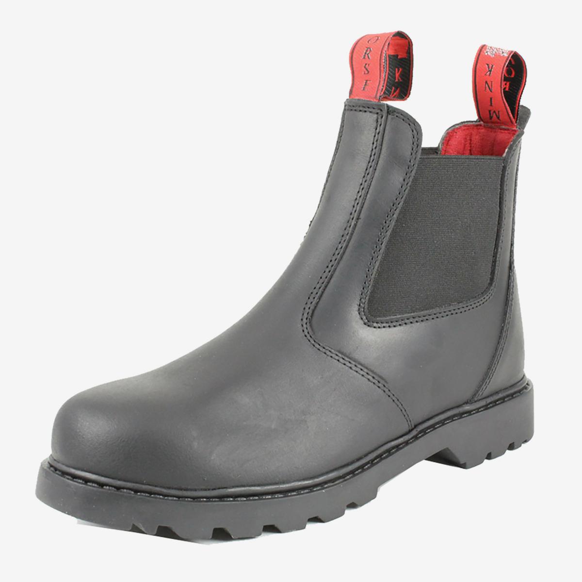 67030897afe Mink Horse Stald / Arbejdsstøvle af kraftigt vandtæt læder/ stål næse